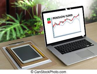 fonds retraite, économies, pension, personne agee, investissement