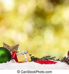 fondsen, met, traditionele , kerstversiering, en, kerstmis, feestdagen