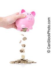 fondsen, regenachtige dag