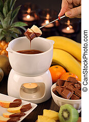 fondue, chocolat