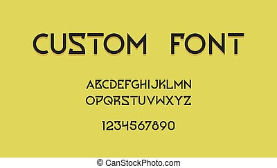 font., アルファベット, 創造的, 活版印刷, 現代, 幾何学的, ロゴ, 最小である, design., テキスト, ヘッダー, 抽象的, ポスター, 手紙, ベクトル