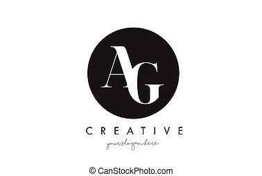 font., ag, serif, diseño, carta, logotipo, círculo, negro