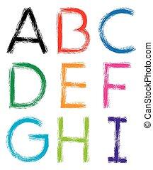 Font. Alphabet. #1.