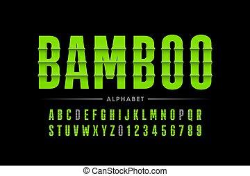 font, bambù, stile