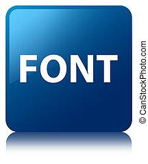 Font blue square button
