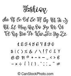 font., calligraphie, manuscrit