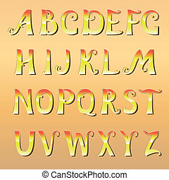 Font cheerful sunny