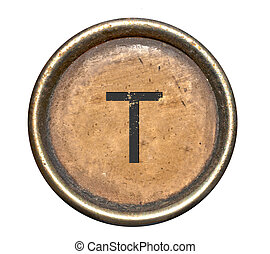 Font consisting of keys of a typewriter - Full alphabet....