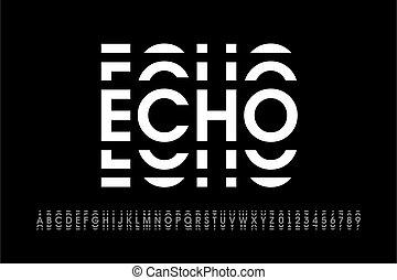 font, eco, stile, moderno