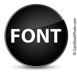 Font elegant black round button