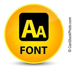 Font elegant yellow round button