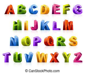 font, farverig