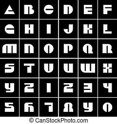 Font icons alphabet