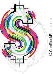 font Illustration. Dollar Symbol