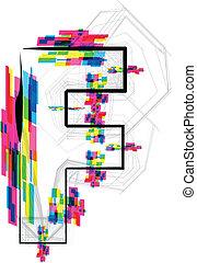 Font Illustration. LETTER F. Vector illustration