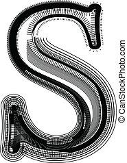 Font illustration LETTER S