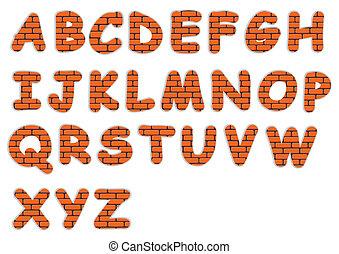 font - brick font