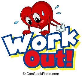 font, lavorativo, cuore, parola, disegno, risolvere