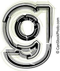 font., litera g, techniczny
