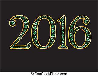 font, oro, canali, smeraldo, ingioiellato, 2016