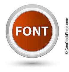 Font prime brown round button