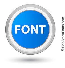 Font prime cyan blue round button