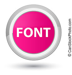 Font prime pink round button