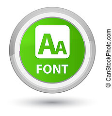 Font prime soft green round button