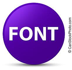 Font purple round button