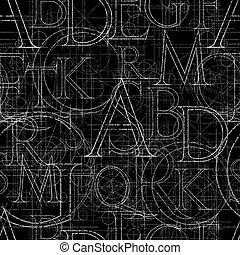 font seamless pattern