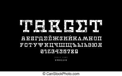 font, serif, cyrillic, stile, fantascienza