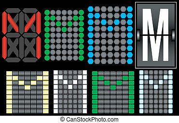 Font Set 4 Digital Display Letter M