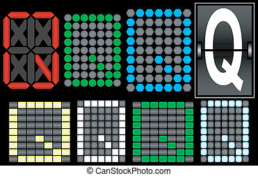 Font Set 4 Digital Display Letter Q