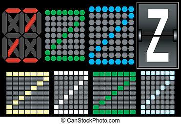 Font Set 4 Digital Display Letter Z