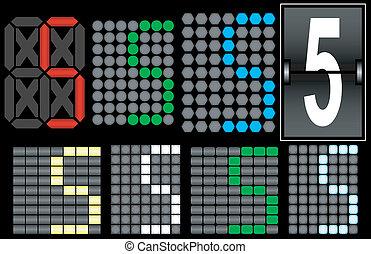 Font Set 4 Digital Display Number 5