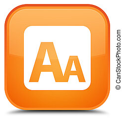 Font size box icon special orange square button