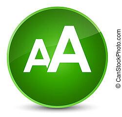 Font size icon elegant green round button