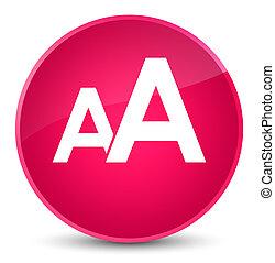 Font size icon elegant pink round button