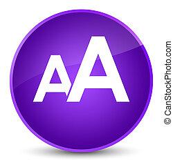 Font size icon elegant purple round button