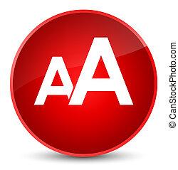 Font size icon elegant red round button