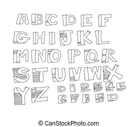 Font Sketch Hand drawing