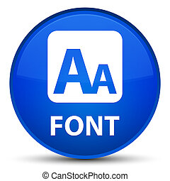 Font special blue round button