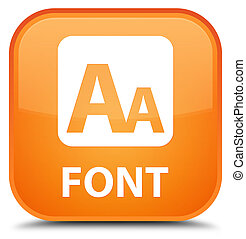 Font special orange square button