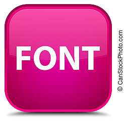 Font special pink square button