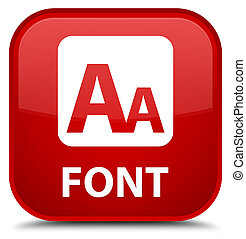 Font special red square button