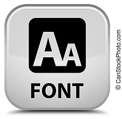Font special white square button