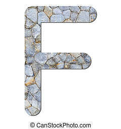 Font stone wall texture alphabet F