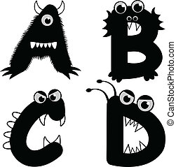 Font Type Monster - A set of strange creature font type,...