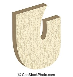Font Type Rock U