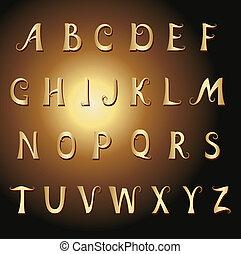 Font vintage gold
